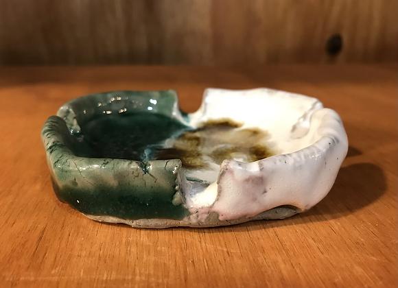 Green/White Ashtray