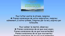 Prise de conscience des sens et de la respiration