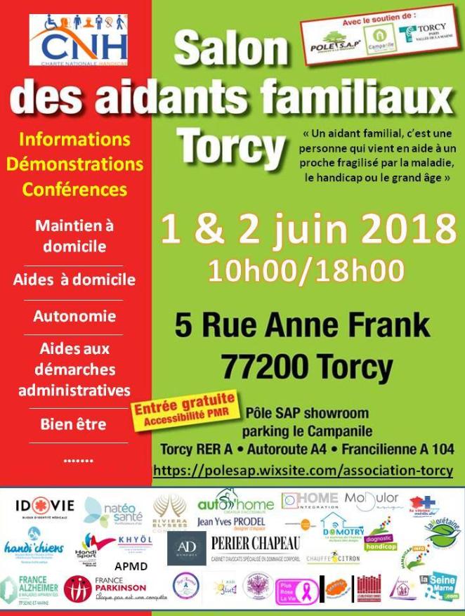 Salon des aidants familiaux les 1 et 2 juin 2018 à Torcy (Seine et Marne)
