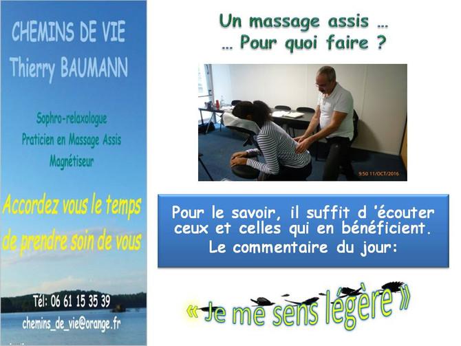 Un massage assis. Pour quoi faire?