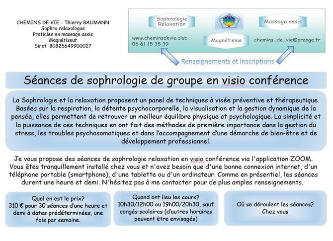 La sophrologie et la relaxation en visio conférence