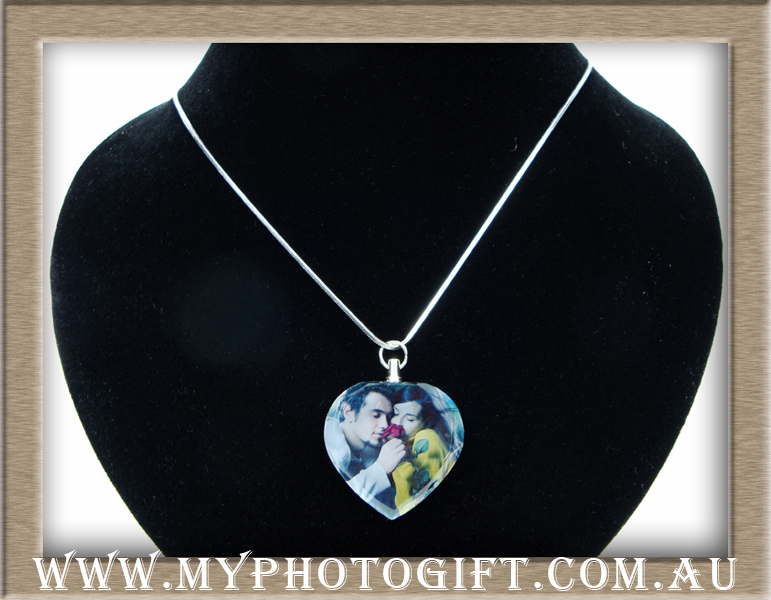 crystal heart jewelry printed