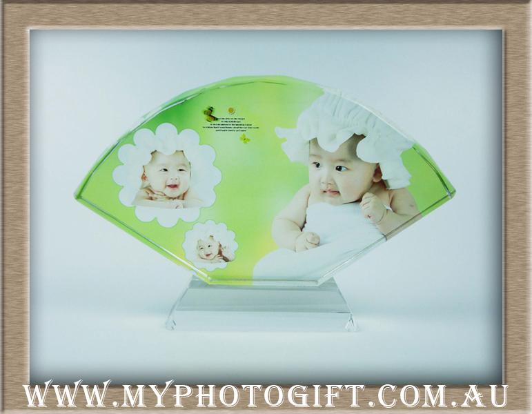 fan shaped crystal printing