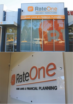 window and reception signage