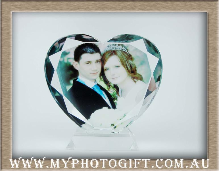 love wedding heart crystal