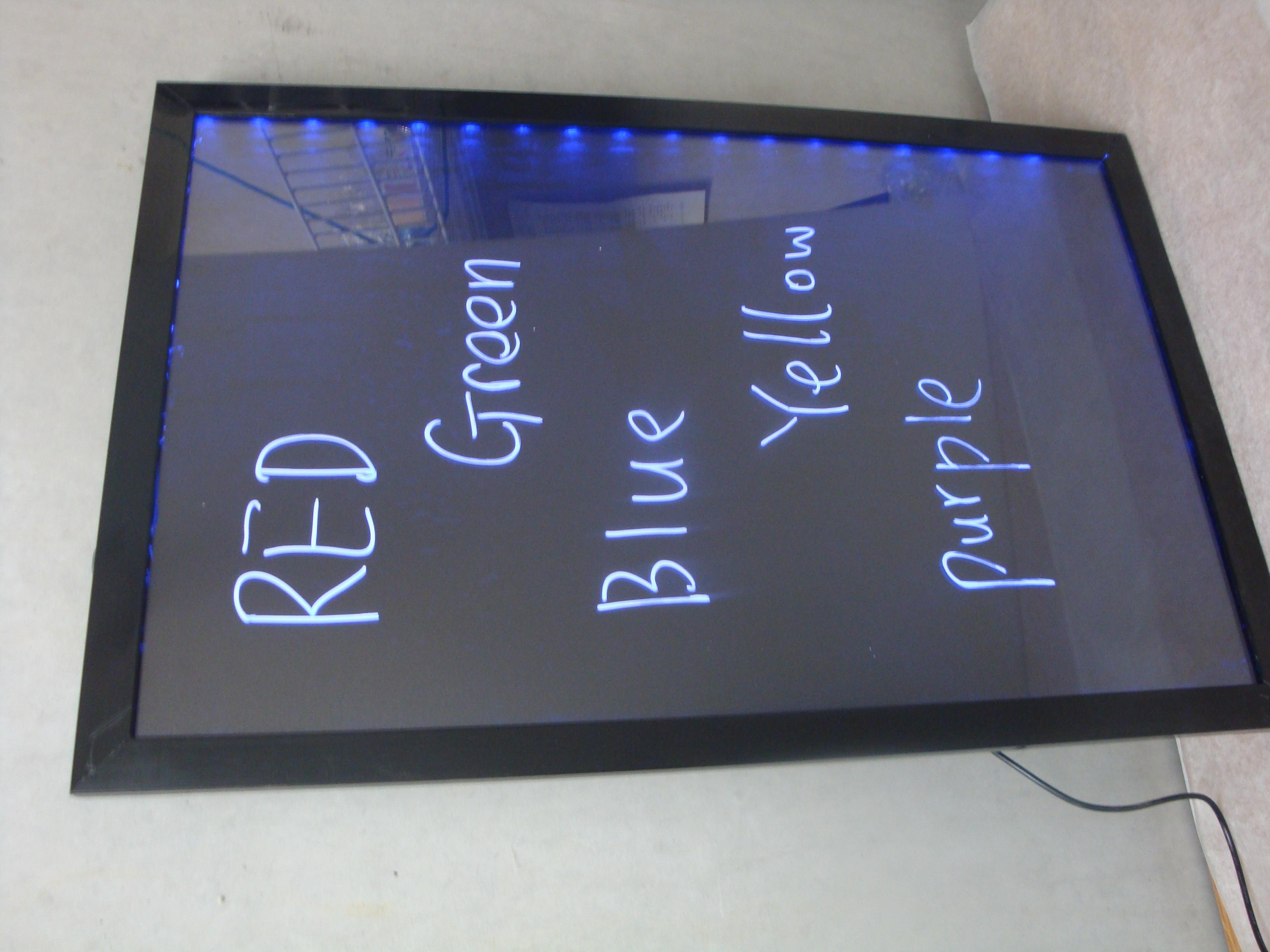backlit neo menu board