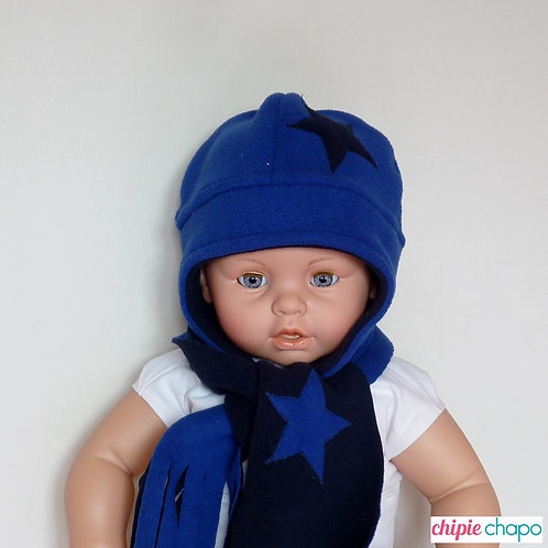 Bonnet et écharpe en polaire pour bébé
