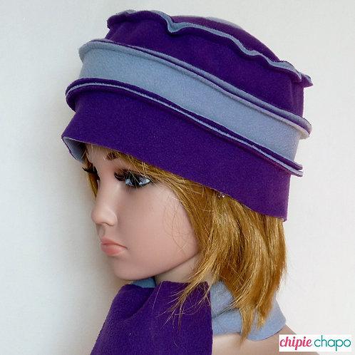 Bonnet et écharpe assortie en polaire pour fille