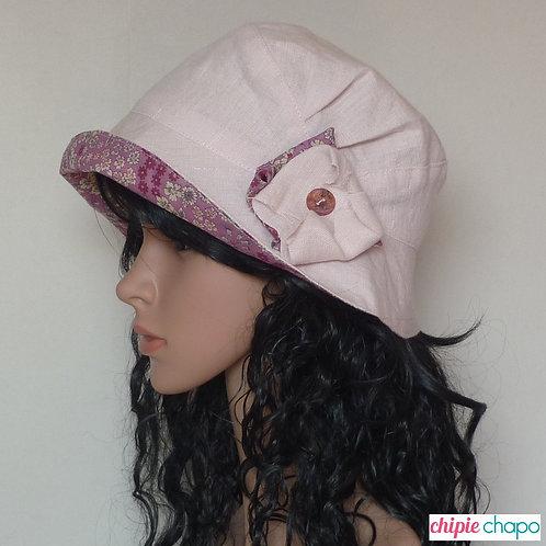 Chapeau de soleil femme réversible