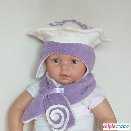 Bonnet étoile et son écharpe en polaire