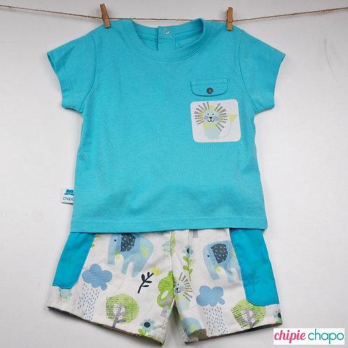 "Tee-shirt et short ""Johan dans la savane"""
