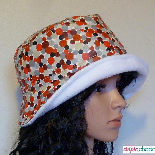 Chapeau de pluie doublé polaire