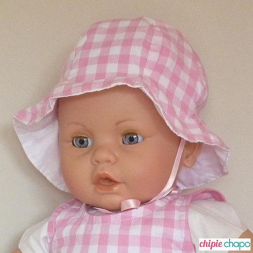 """Chapeau """"Vichy de Rosie"""""""