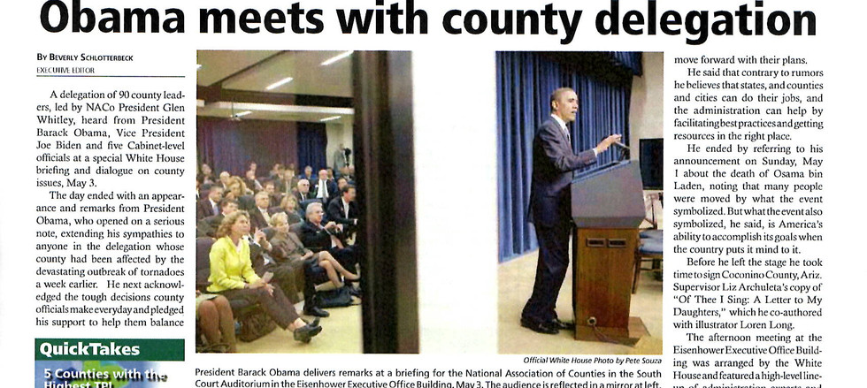 NACo News Article Obama Meets With County
