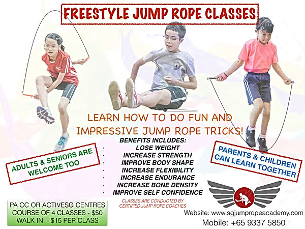 Jump rope course posters - FREESTYLE PRO