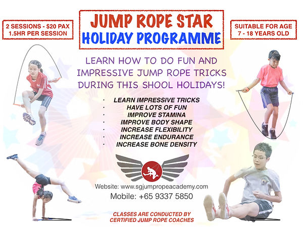 Jump rope course posters - JUMP ROPE STA