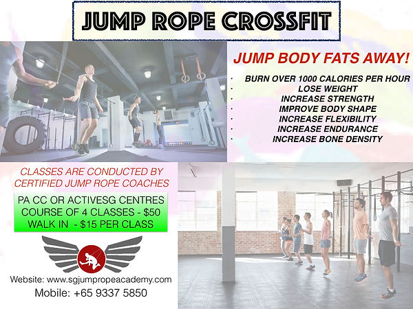 Jump rope course posters - CROSFIT PROGR