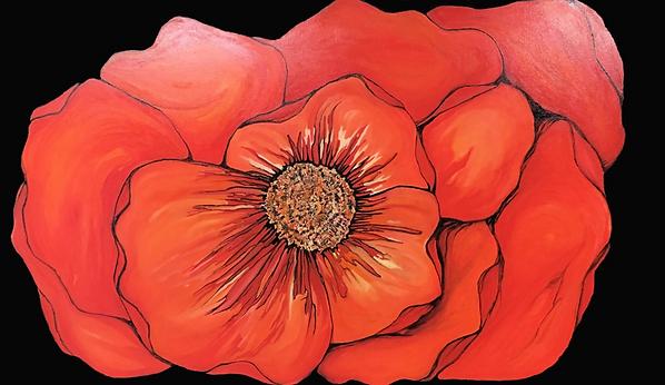 Julianna Peric Poppy Oil Painting