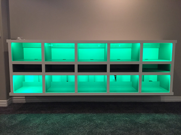 Media console with LED lights