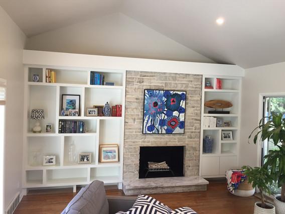 Custom mid-century modern built-in book shelf
