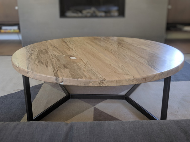 Spalted maple circle table