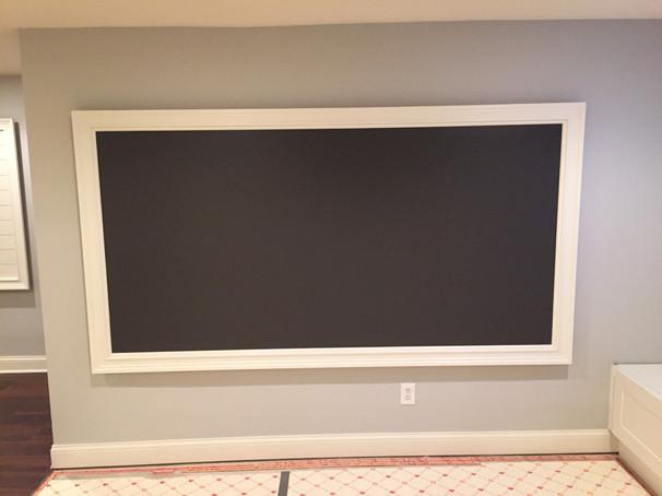 Chalkboard with custom wooden frame
