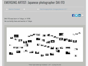"""Featured as Emerging Artist on """"be-Art magazine"""""""