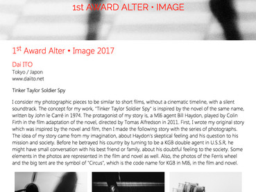 "1st Place at ""Alter Image"" Award, by Rendez-Vous Image, Strasbourg"