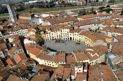 Piazza Anfiteatro - veduta aerea