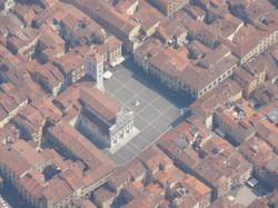 Piazza S. Michele - veduta aerea