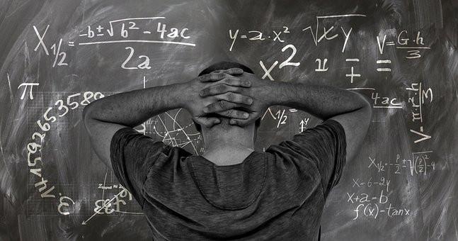 Confusing words on a blackboard