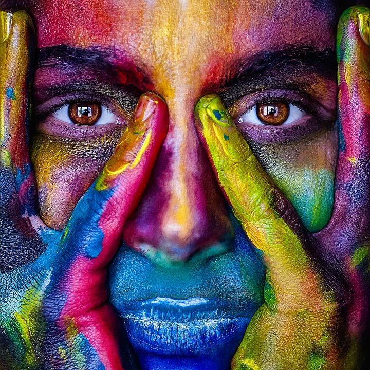 Colourful Face