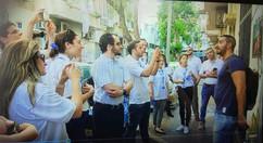 צילום מודיאו של מפגש עיתונאים עם האמן -