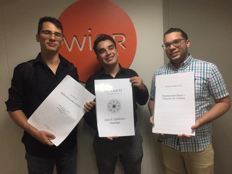 Radio WIPR promoting Young Artists Series PR concert, Young Conductor Alfonso Piacentini, Bryan Ojeda and Emmanuel Segarra