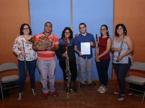 Recording of Sophia at Rolo's Studio - Woodwind Quintet