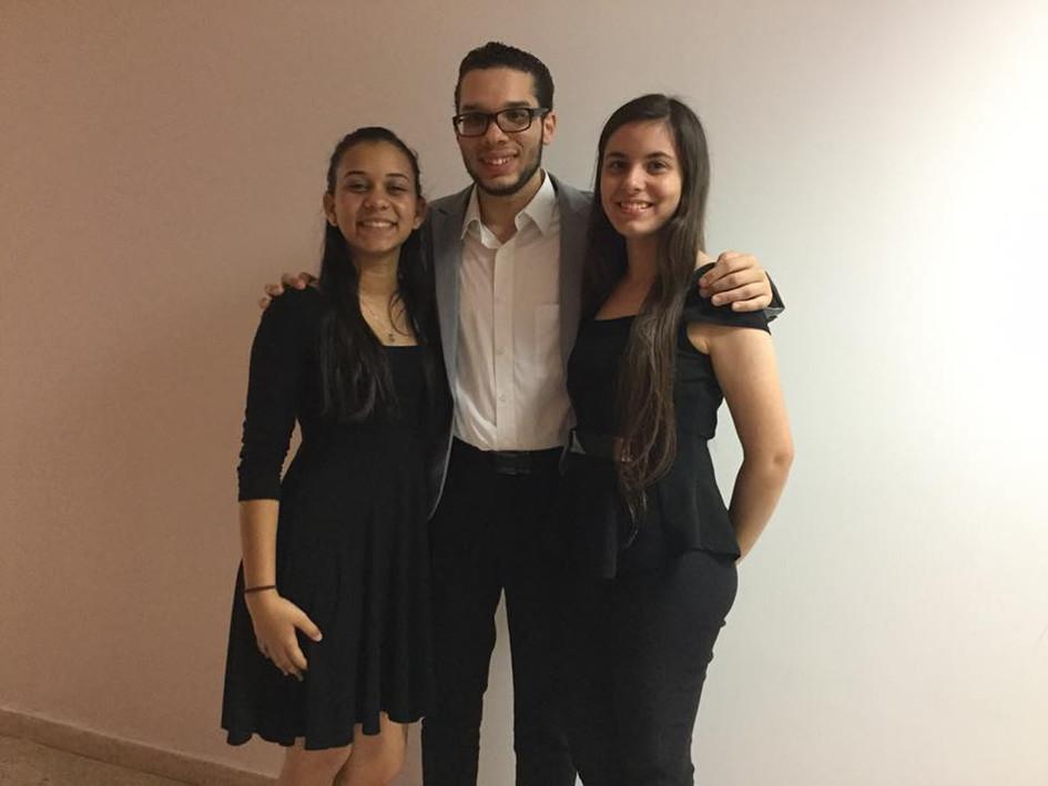 Brisas, duo for flute premiere on Flute festival in Caguas.  Julieana Torres, Emmanuel Segarra and Maria Padilla