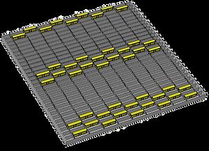 1m x 1m - 2 wide offset strip