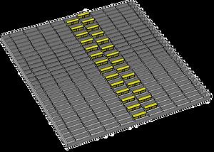 1m x 1m 2 wide offset pattern
