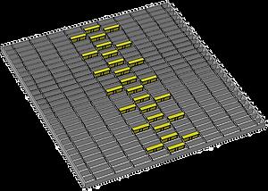 1m x 1m diamond pattern strip