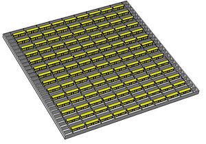 1m X 1m  parallel  Strip longways (126).