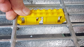 """Grate Cleat - the cleats fit all grating bar depths in the 5mm and imperial 3/16 range by 25mm (1""""),32mm (1-1/4""""),40mm (1-1/2""""),50mm (2"""") deep"""
