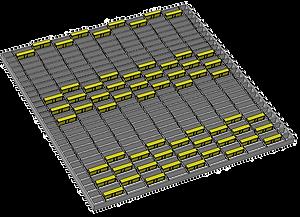 1m x 1m offset strip 3 wide