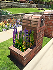 Brick Column Mailbox with side planter