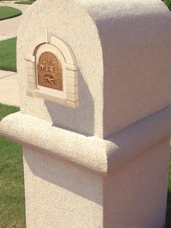Plano Modern Stucco - Stucco Mailbox