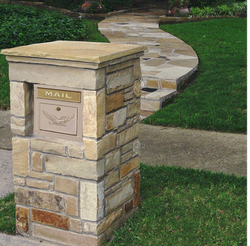 Plano Column Mailboxes in Stone