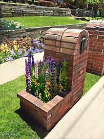 Dual Purpose Column Mailbox combines Planter and Mailbox Column