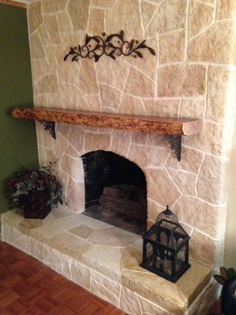 Plano Brick Repair - Stone Fireplace