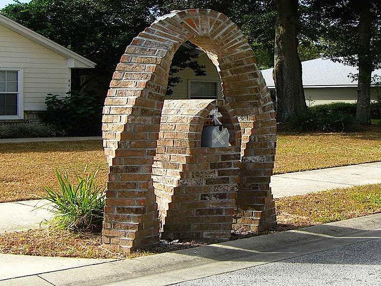 custom mailbox. Artistic Custom Column Mailbox