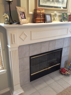 Omega Cast Stone Fireplace & Mantle