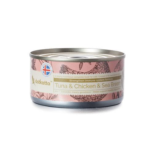Astkatta Tuna & Chicken & Sea Bream 吞魚拿雞肉海鱸主食罐 170g x 48罐